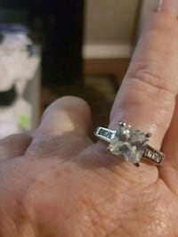 Gorgeous LS solitaire engagement ring .