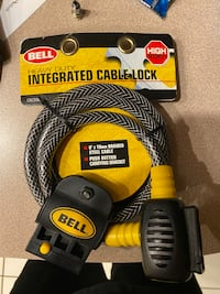 Bell heavy duty integrated cable lock (NIB)