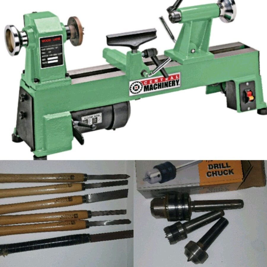 Photo Wood lathe set
