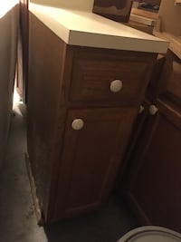 Oak wooden cabinets. Have several. Let me know if you're interested.