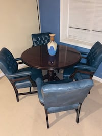Dark Cherry Wood Table with 4 chairs  Woodbridge, 22191