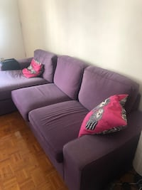 purple fabric 2-seat sofa Toronto, M4X