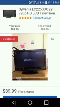 19in TV with DVD player attached and remote Roanoke, 24016