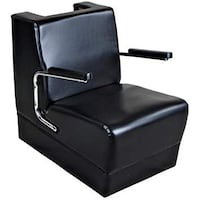 Black leather hair dryer chair 2381 mi