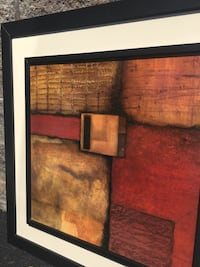 """Hanging Painting/Wall Art.  Two matching pieces, each 35.5"""" X 35.5"""". Inner lay is slightly elevated giving a 3D effect. Excellent condition. $50 for both. Eastchester, 10709"""