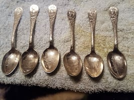 12 misc World's fair spoons