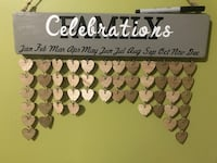 Wooden Birthday Calendar  Comes with 50 hearts Airdrie, T4B 1Y7