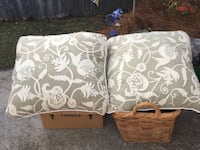 Two white-and-brown throw pillows North Charleston, 29485