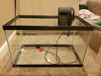 black framed clear glass fish tank 10 gallons.  Olney, 20832