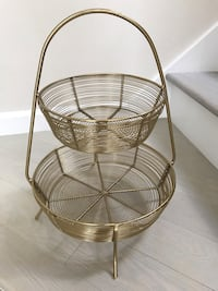 2-Tier Gold Plated Wire Basket - Threshold brand from Target Seattle, 98107