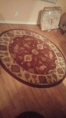 round brown and gray floral fleece area rug