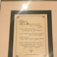 Old Irish blessing print North Andover, 01845