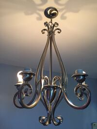 silver and white uplight chandelier Des Plaines, 60018