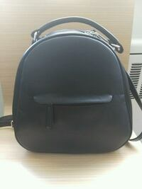 black and gray leather backpack Vancouver, V6E 4T4