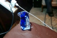 blue and white glass spoon pipe Lochbuie, 80603