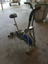 white, blue and black stationary bike Gonzales, 70737