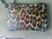 Coach Br and black leopard print leather wristlet Morgantown, 26505