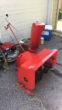 Red and black gravely snow blower Crofton, 21114