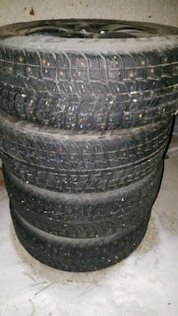 black auto wheel with tire set Spruce Grove, T7X