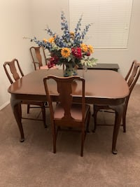 $100 This antique dining room set is circa 1930s