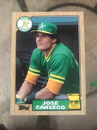 """Jose Canseco """"Rookie Card"""" Reno, 89512"""
