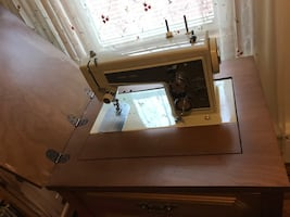 Vintage Kenmore sewing machine with table