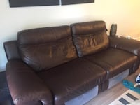 Leather recliner one year old