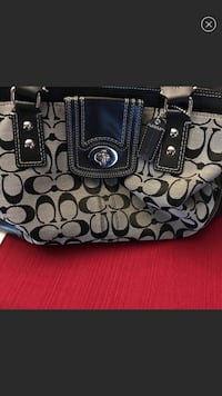Coach monogram and leather carryall bag Bowie