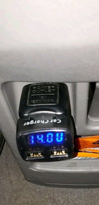 Car charger + battery voltage monitor!