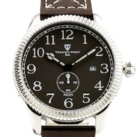 Tschuy Vogt men's military design Swiss chronograp