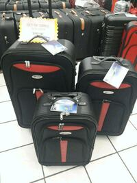 black and red travel luggage Greenbelt, 20770