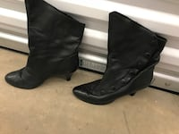 Woman's Black Soft Leather Catwalk Ankle Boots Baltimore, 21213