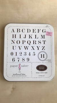 Unmounted Alphabet Rubber Stamps Des Moines, 50311