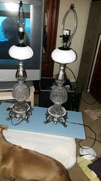 Set of Crystal and milk glass lamps Gardendale, 35071
