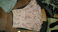 Pink floral flowing skirt. Size small.