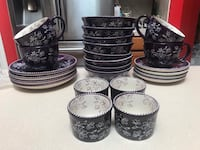 QVC Temptations by Tara McConnell Tesher Floral Lace Handpainted Dishes Fort Worth, 76140