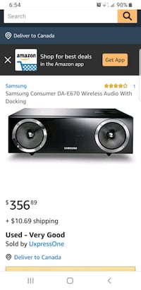 Samsung Wireless Speaker with Dock