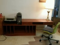 brown wooden computer desk with hutch Woodbridge, 22193