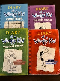 4 DIARY OF A WIMPY KIDS BOOKS