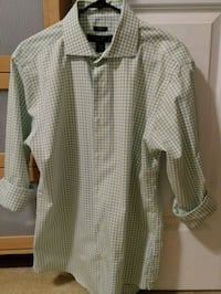 Pronto Uomo dress shirt, green and blue checkered Arlington, 22206