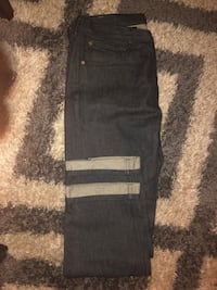 black denim straight-cut jeans Greenbelt, 20770