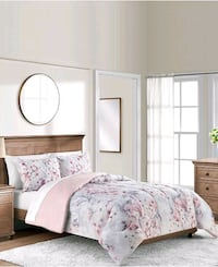 white and pink floral bed sheet set 20 mi
