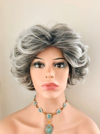 Short Grey/Black Wig for Everyday or Cosplay Calgary, T2P