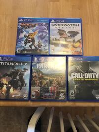 five Sony PS4 game cases Covington, 30014