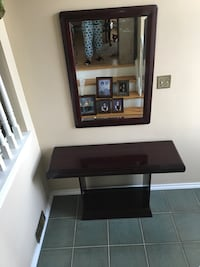 Console/Entrance Table with Mirror and Glass Shelf. Vaughan