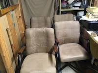 Suede leather  rolling chairs. ( 4 ) $250. London, N5V 1H6