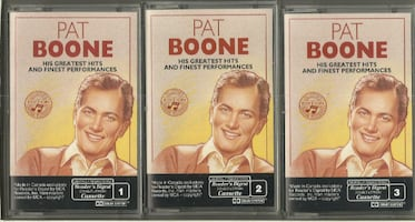 Pat Boone 3 Cassettes His Greatest Hits Reader's Digest  Like New Cond