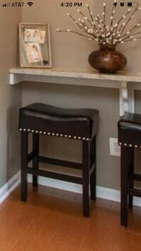 2 counter height bar stools
