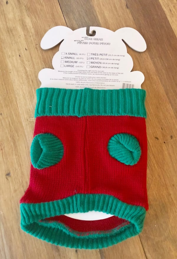 Holiday Christmas Sweater Dog Pet Gear - Size Small, BRAND NEW 8f9a0479-bfe7-4048-98e4-05d564051773