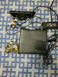 black Xbox 360 game console with game cases Clearfield, 16830